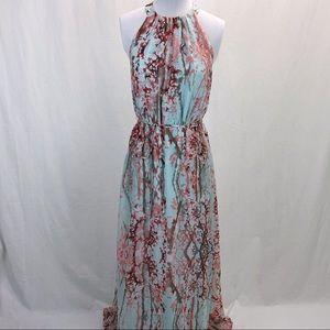 Jessica Simpson halter maxi dress